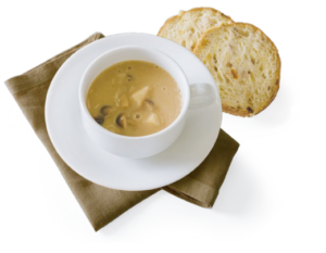 豆乳とじゃがいもの白味噌スープ