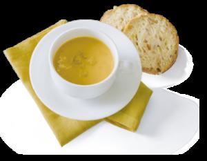 チキンとひよこ豆のかぼちゃスープ