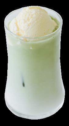 緑抹茶のラテフロート